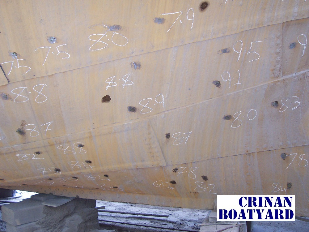 Hull-thickness-markings